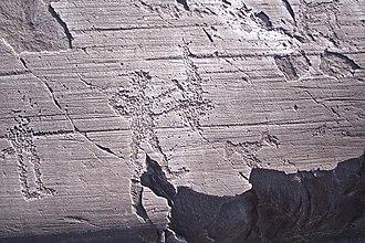 Rock Drawings in Valcamonica - Image: Scena del fabbro Parco di Naquane R 35 Capo di Ponte (Foto Luca Giarelli)