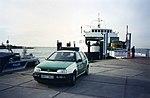 Schaprode incident Polizeiboot und Polizei Auto auf Ruegen, IFA W50, October1994 (2859964121).jpg