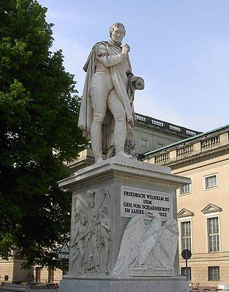 Gerhard von Scharnhorst - Statue of Scharnhorst on the Unter den Linden, Berlin