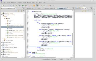 PyDev - Image: Screenshot Vrapper