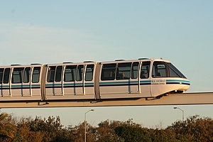 Sea World Monorail System - A monorail train at Sea World.