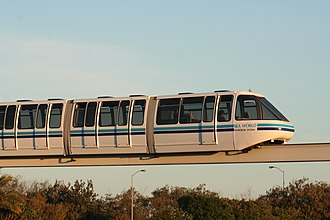 Sea World Monorail System - A monorail train at Sea World.