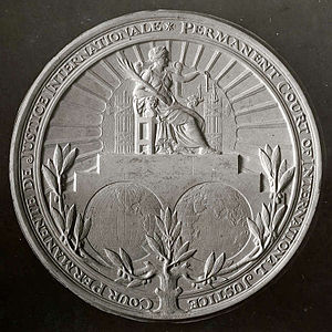 Johannes Cornelis Wienecke - Image: Seal of the 'Permanent Court of International Justice' in The Hague