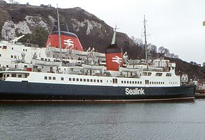 Sealink - Sealink ferries Horsa and Maid of Orleans, Dover, 1973.