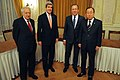 Secretary Kerry, Russian Foreign Minister Lavrov Meet With UN Secretary-General Ban, UN Special Representative Brahimi (12075293396).jpg