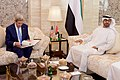 Secretary Kerry Sits With United Arab Emirates Crown Prince Mohammed bid Zayed Before a Bilateral Meeting in the Mina Palace (22609540483).jpg