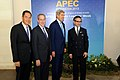 Secretary Kerry and U.S. Trade Representative Froman Pose for a Photo With Their APEC Host Counterparts (10085821383).jpg