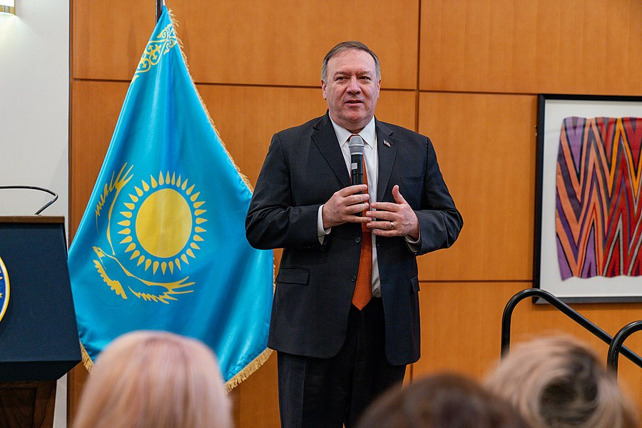 Secretary Pompeo Meets With U.S. Embassy Nur-Sultan Personnel (49476321361).jpg