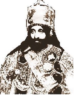 01292281 Rastafari. Haile Selassie (Ras Tafari, Etiopiens kejsare 1930–74), ses som  en