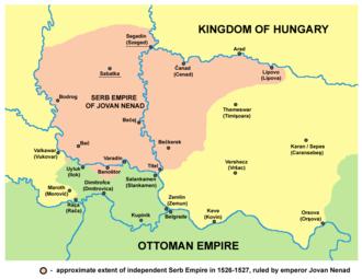 Jovan Nenad - Territorial extent.
