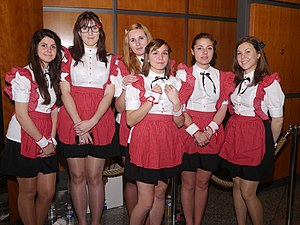 Maid café - Waitresses at a Maid café