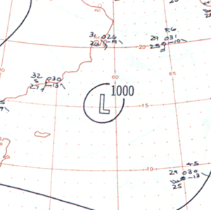1960 North Indian Ocean cyclone season - Image: Severe Cyclonic Storm One analysis 16 May 1960