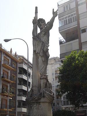 Monumento (en Sevilla) a Rodrigo de Triana, pr...