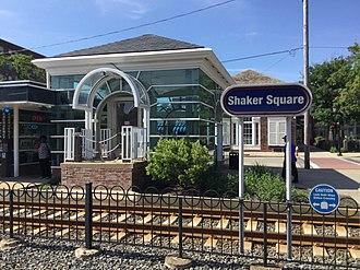 Shaker Square station - Image: Shaker Square station sign (2)
