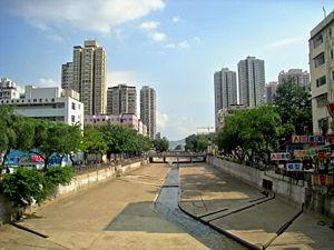 Yuen Long - Shan Pui River passing through Yuen Long Town
