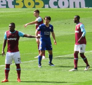 Shinji Okazaki - Okazaki against West Ham at the King Power Stadium on 17 April 2016