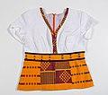 Shirt van Afrikaanse kente stof- Stichting Nationaal Museum van Wereldculturen - R-3633c.jpg