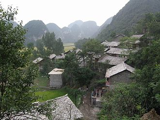 Guizhou - Bouyei minority Shitou village, west Guizhou (near Longgong caves), China.