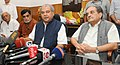 Shri Narendra Singh Tomar addressing a press conference after takes charge as Union Minister for Rural Development, Panchayati Raj, Drinking Water and Sanitation, in the presence of the Union Minister.jpg