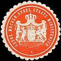 Siegelmarke Grossherzoglich Mecklenburg Strelitzsche Staats - Ministerium W0214673.jpg