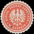 Siegelmarke K.Pr. Landrath Wollstein W0393728.jpg