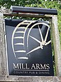 Sign for the Mill Arms, Dunbridge - geograph.org.uk - 889657.jpg