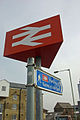 Sign to Ashford International Station - geograph.org.uk - 1762026.jpg