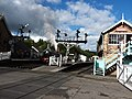 Signal gantry Grosmont Railway station.jpg