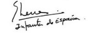 Infanta Elena, Duchess of Lugo - Image: Signature of Infanta Elena, Duchess of Lugo