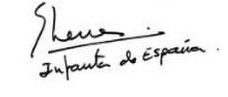 Infanta Elena, Duchess of Lugo - Image: Signature of Infanta Elena, Duchess of Lugo
