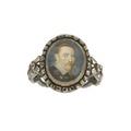 Silverring med miniatyrporträtt av kung Gustav II Adolf - Livrustkammaren - 97880.tif