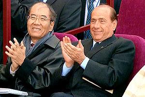 STRELNA. Italian Prime Minister Silvio Berlusc...