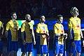 Singing National anthems, EFT 2018 Sweden vs Finland 2.jpg