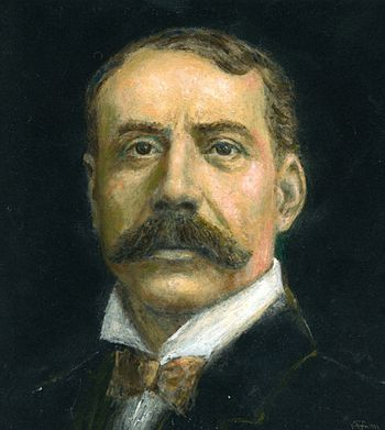 English: Painting of Sir Edward Elgar, O.M.