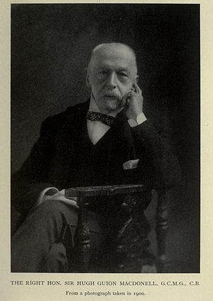 Sir Hugh Guion MacDonell - Sir Hugh Guion MacDonell in his last years 1900