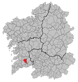 Location of Mondariz within Galicia.