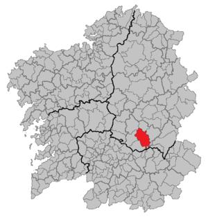 Monforte de Lemos - Image: Situacion Monforte de Lemos