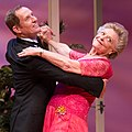 Todd McKenney and Nancye Hayes, dancing the waltz