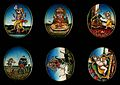 Six circular gouache paintings of Hindu gods, 19th century Wellcome V0047493.jpg