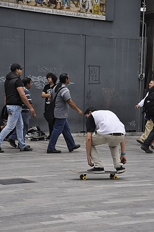 Flip trick - Image: Skateboarding at Mexico City Flip 122