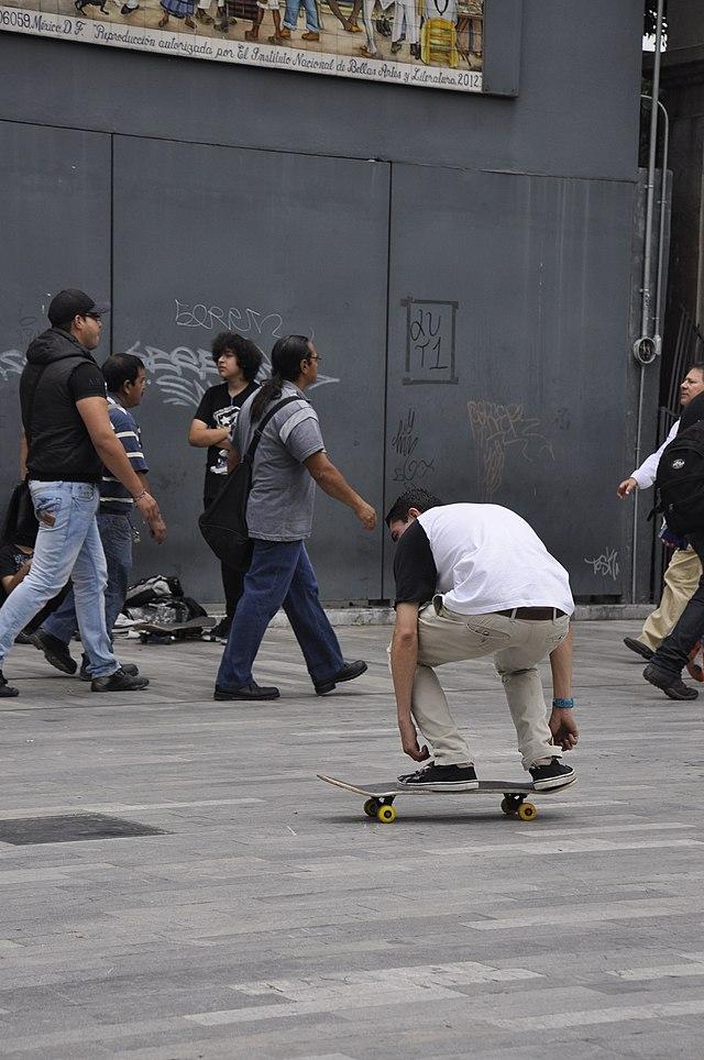 her Skateboard ass up shuved