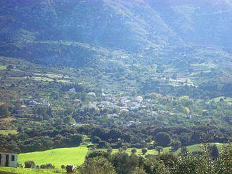 Mount Erymanthos - The village of Skiada on the side of Mount Erymanthos