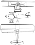 Skraba S.T.3 3-view Les Ailes February 9,1928.png