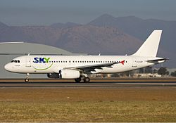 Airbus A320-200 der Sky Airline