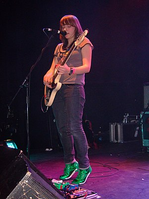 Sky Larkin - Katie Harkin performing with Sky Larkin at the ICA in London, 29 January 2009