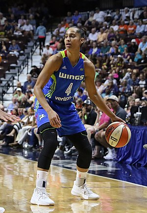 Skylar Diggins-Smith - Skylar Diggins-Smith in a 2017 WNBA regular season game