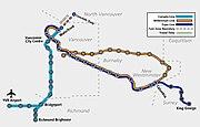 Skytrain system map