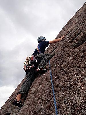 Slab climbing - Image: Slab Climbing