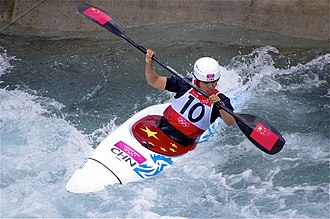 China at the 2012 Summer Olympics - Image: Slalom canoeing 2012 Olympics W K1 CHN Li Jingjing