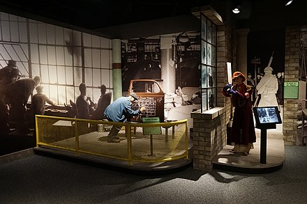 Flint sit-down strike exhibit at the Sloan Museum Sloan Museum July 2018 21 (Flint sit-down strike exhibit).jpg